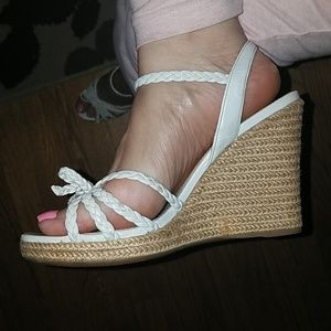 PRADA Braided Wedge Sandal